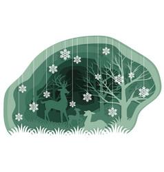 Family of deer vector