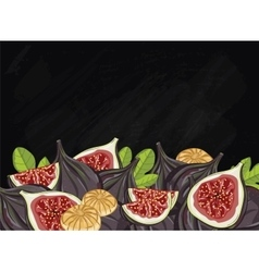 Figs fruit composition on chalkboard vector