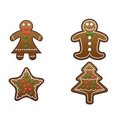 gingerbread cookies set vector image