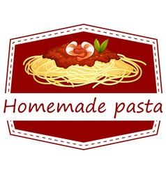 Homemade Pasta vector image