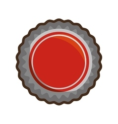 red bottle cap white background vector image