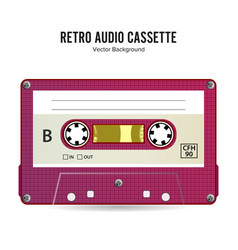retro audio cassette detailed retro c90 vector image