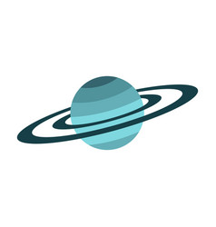 Saturn icon flat style vector