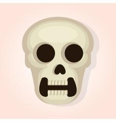 Skull head dead day vector