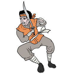soldier man vector image