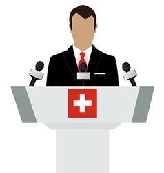 Switzerland speaker concept vector image vector image
