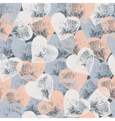 Vintage heart hand drawn seamless pattern vector image vector image