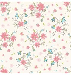 Vintage wildflowers seamless vector image vector image