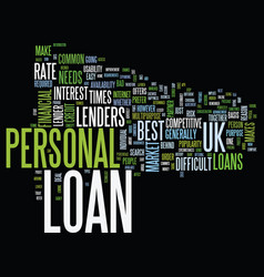 Your financial partner personal loan uk text vector
