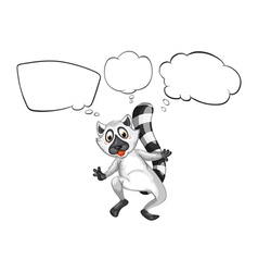 A lemur thinking vector image