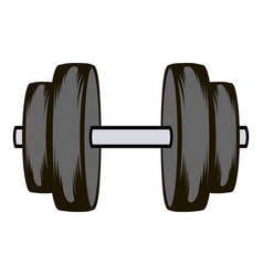 Barbell icon cartoon vector