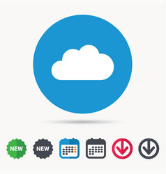 cloud icon data storage technology sign vector image