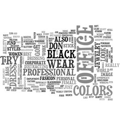 What women should wear for office text word cloud vector