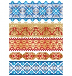 Textiles patterns vector
