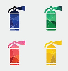 Fire extinguisher icon abstract triangle vector