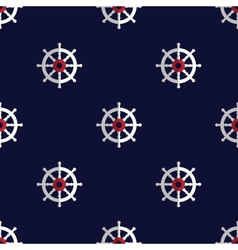 Sea style seamless pattern with helms vector