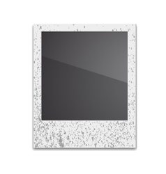 Retro Photo Frame Polaroid On White Background vector image