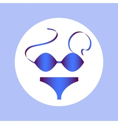 Swimsuit in circle vector