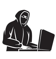 Computer hacker vector