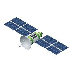 GPS satellite Orbiting satellite isolated on vector image