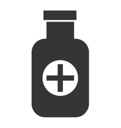 Black medicine container graphic vector