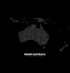 abstract binary australia map vector image