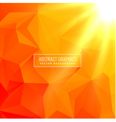 Abstract orange background made with geometrical vector