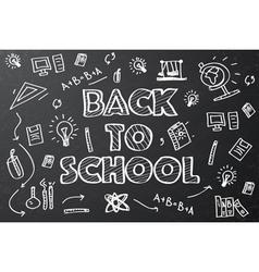 Back to school chalkboard sketch vector