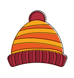 beanie winter hat vector image