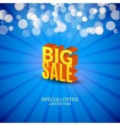 Big Sale 3d letters poster Promotional marketing vector image vector image