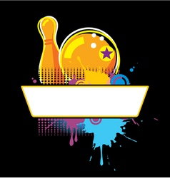 bowling grunge banner vector image vector image