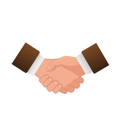 business handshake or contract agreement icon for vector image vector image