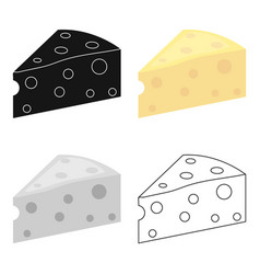 Cheese icon cartoon single bio eco organic vector