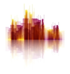 Colorful Abstract Skyscrapers vector image