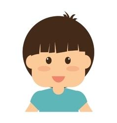 Cute boy icon vector