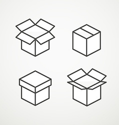 Different boxes collection vector