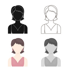 Girl with earrings icon cartoon single avatar vector