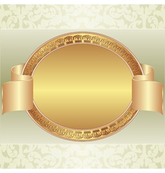 gold oval frame vector image vector image