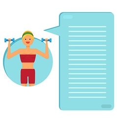 Happy fitness girl vector image