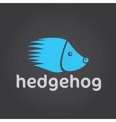 hedgehog silhouette design template vector image vector image