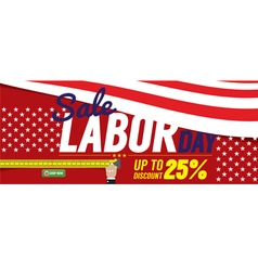 Labor Day Sale 6250x2500 pixel Banner vector image