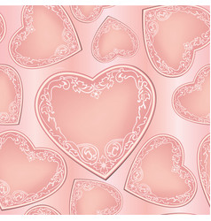 Love hearts seamless pattern valentines day vector