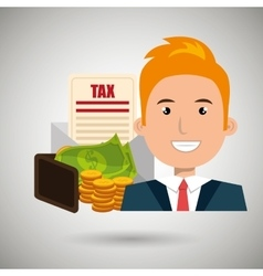 Man money currency tax vector