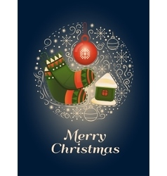 Merry christmas design concept vector
