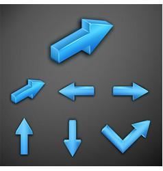 metallic arrows vector image