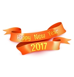 New Year Greetings Decoration Ribbon Element vector image