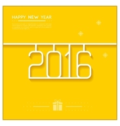 New year poster 2016 line art design vector