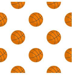 Orange basketball ball pattern flat vector