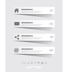 Papercut infographic vector
