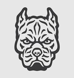 Pitbull head logo mascot emblem vector